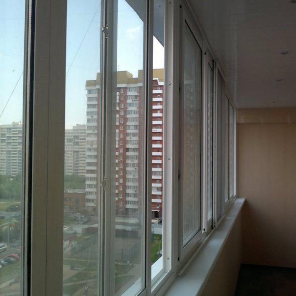 Остекление балкона пвх раздвижка. - металлопластиковые окна .