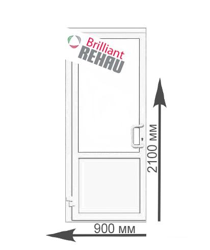 двери пвх входные со стеклом цена
