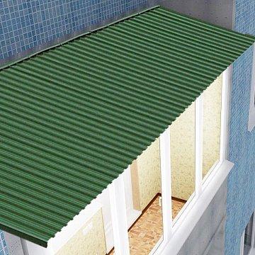 Установить крышу на балкон из профлиста 900x6000.